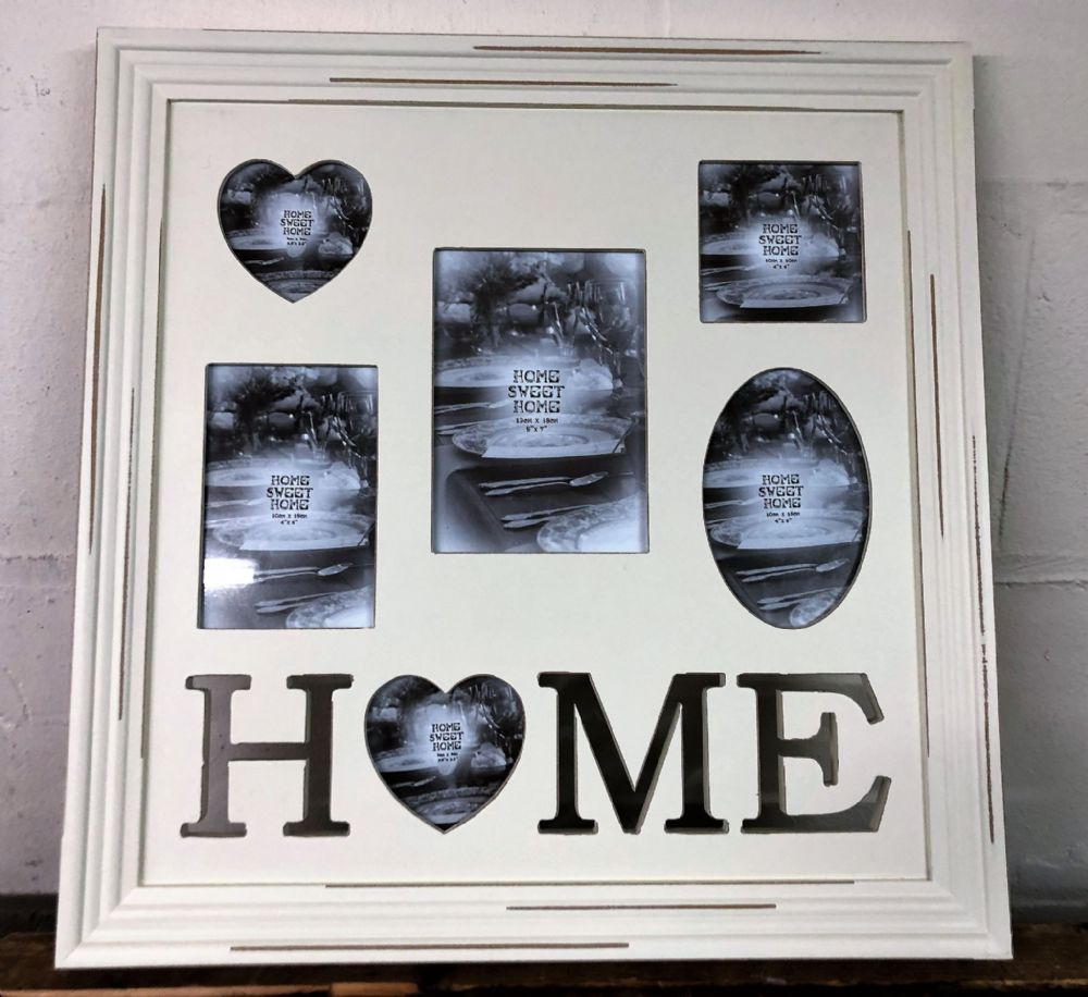 Home Shabby Chic Large 5 Multi Photo Frame Wall Collage